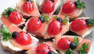 tartine al salmone affumicato antipasto natale bari