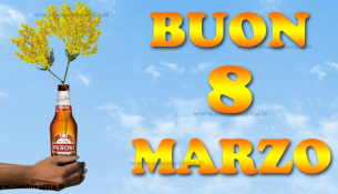 festa della donna 8 marzo mimose birra peroni immagini divertenti vignette baresi camin vattin bari