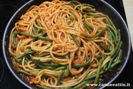 Spaghetti con i fagiolini camin vattin - Cucinare i fagiolini ...