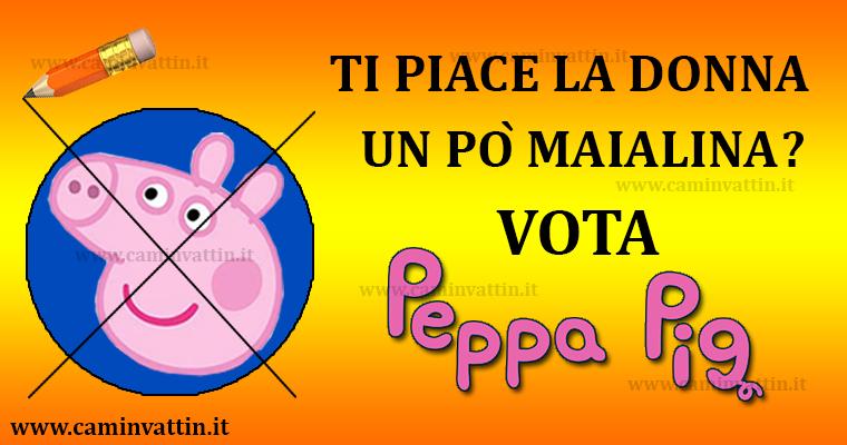 santino elettorale peppa pig elezioni pd pdl forza italia movimento 5 stelle lega nord lista civica bari