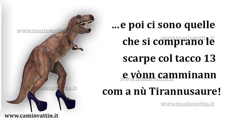 Tirannosauro con i tacchi