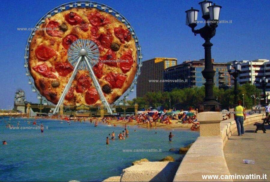 La nuova ruota panoramica sulla spiaggia di pane for Nuova apertura grande arredo bari