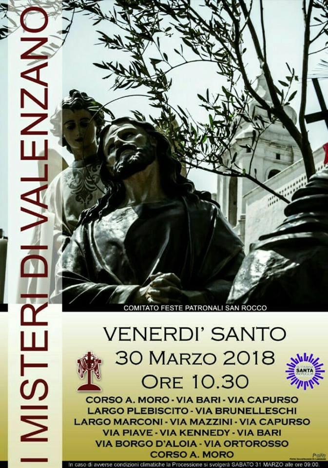 i misteri di valenzano 2018 venerdi santo