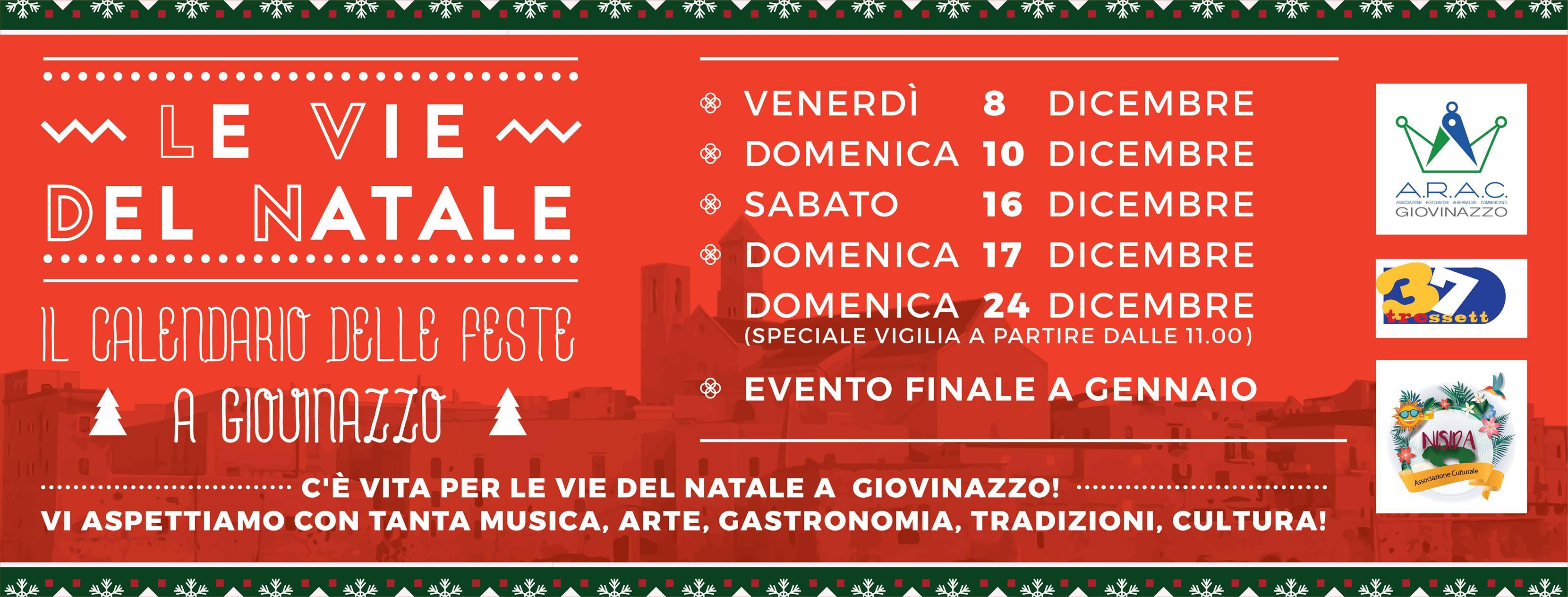 Calendario Eventi Ostuni 2020.Le Vie Del Natale A Giovinazzo Il Programma Completo Delle