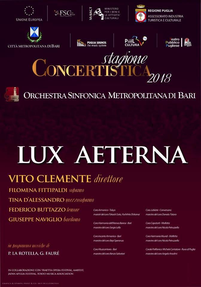 lux aeterna orchestra sinfonica metropolitana bari