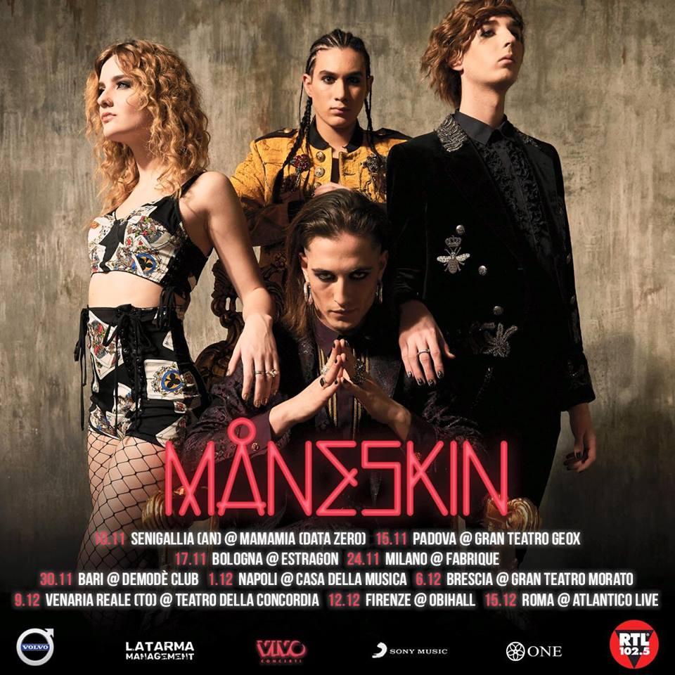maneskin tour 2018 bari demode club