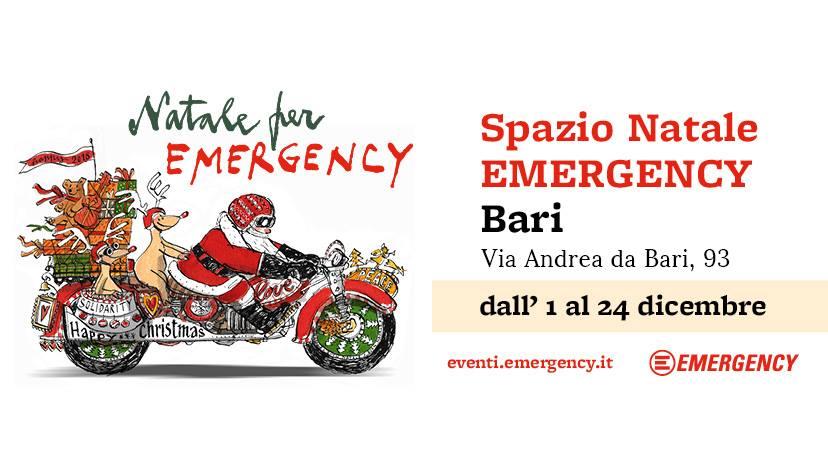 Emergency Regali Di Natale.Spazio Natale Emergency Di Bari Camin Vattin