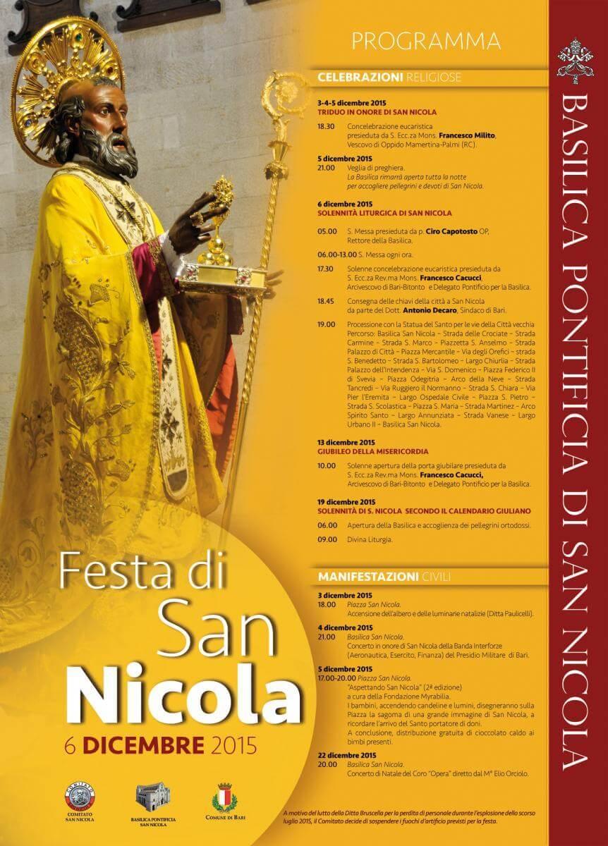 San Nicola Calendario.Festa Di San Nicola 2015 Il Programma Camin Vattin