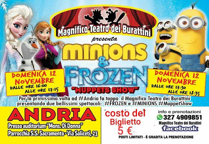 I Minions E Frozen Ad Andria Con Il Magnifico Teatro Dei