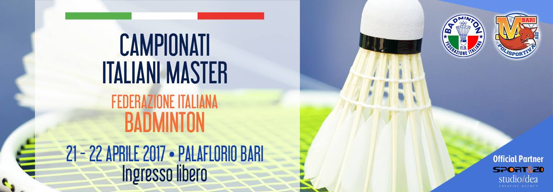 Campionati Italiani Master Badminton Bari 2018 palaflorio