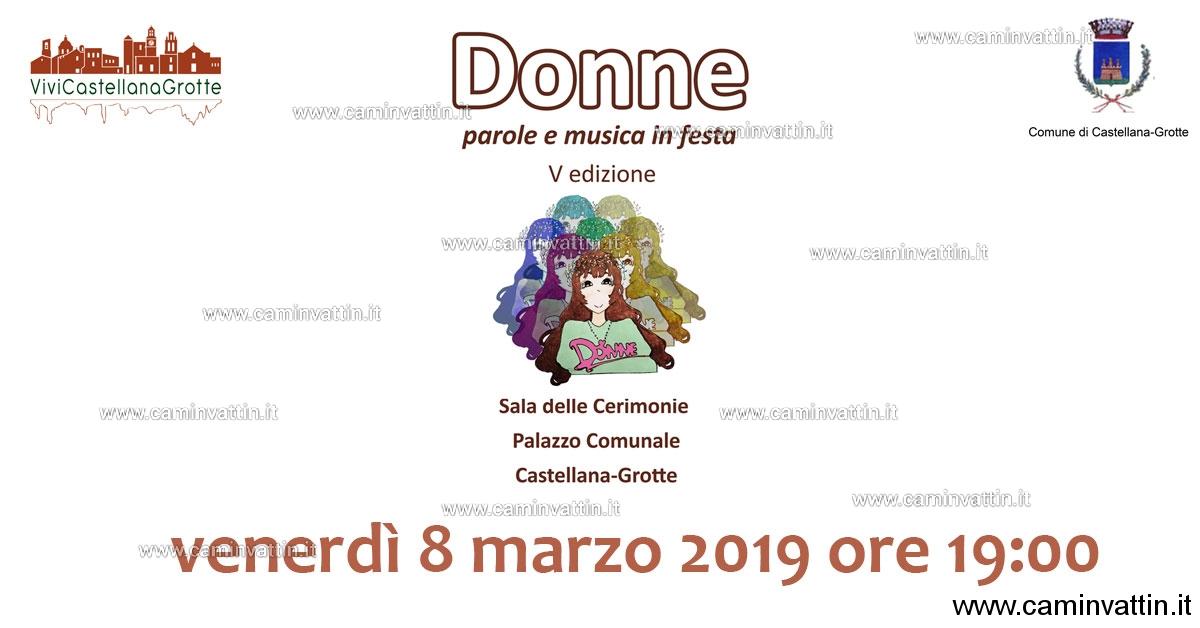 donne parole e musica in festa castellana grotte
