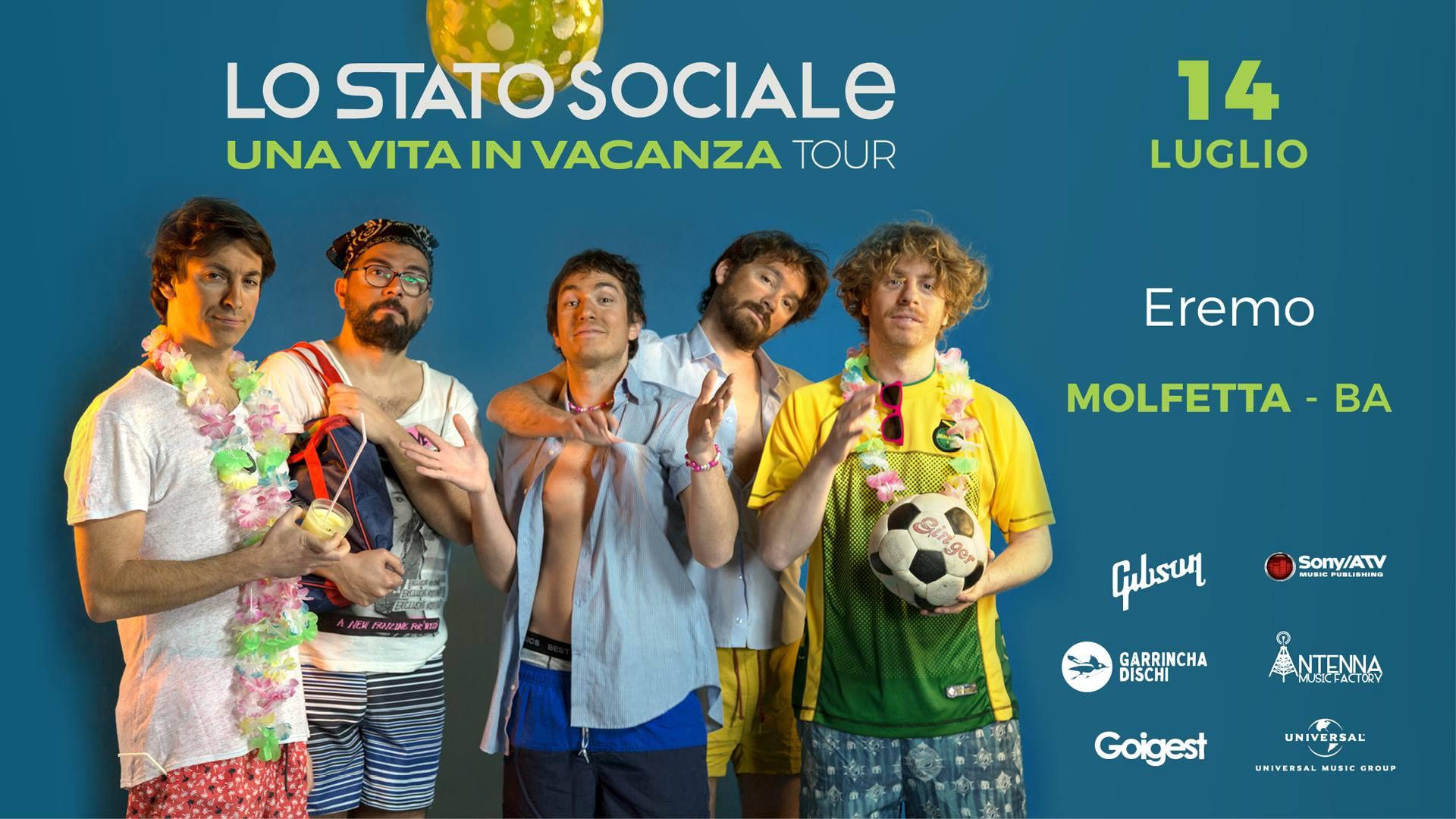 lo stato sociale una vita in vacanza tour 2018 molfetta eremo club