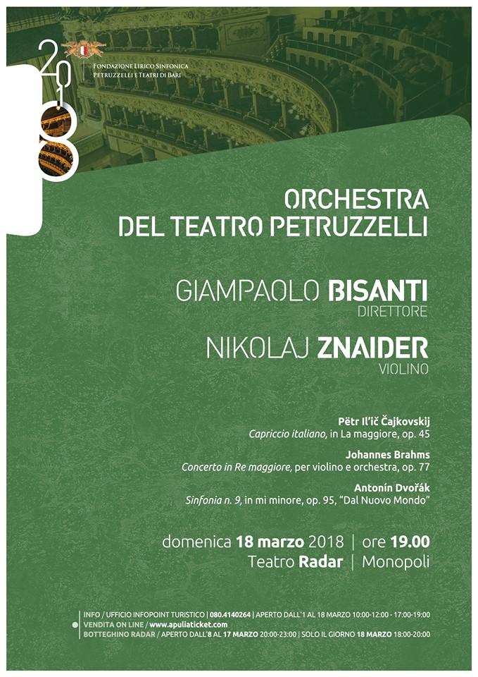 orchestra del teatro petruzzelli al radar monopoli marzo 2018