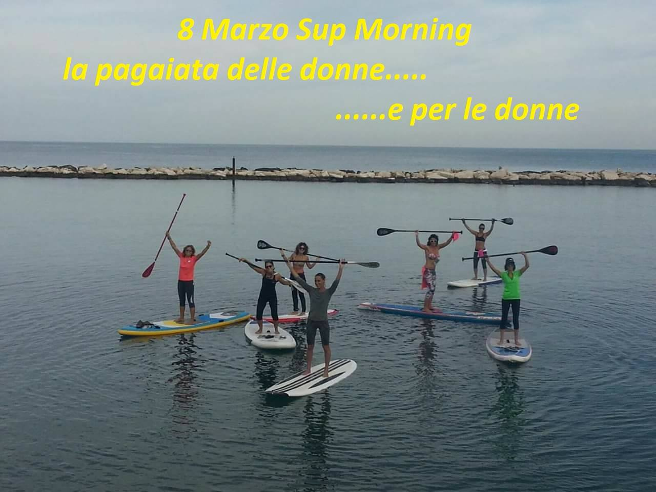 8 marzo sup morning pagaiata donne