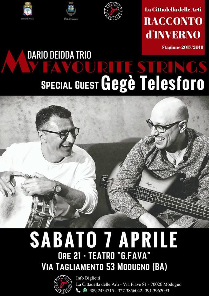 My favourite strings Dario Deidda trio gege telesforo