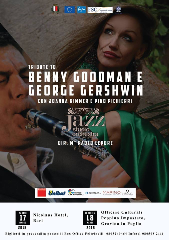 Tribute to BENNY Goodman e George Gershwin paolo lepore jazz studio orchestra