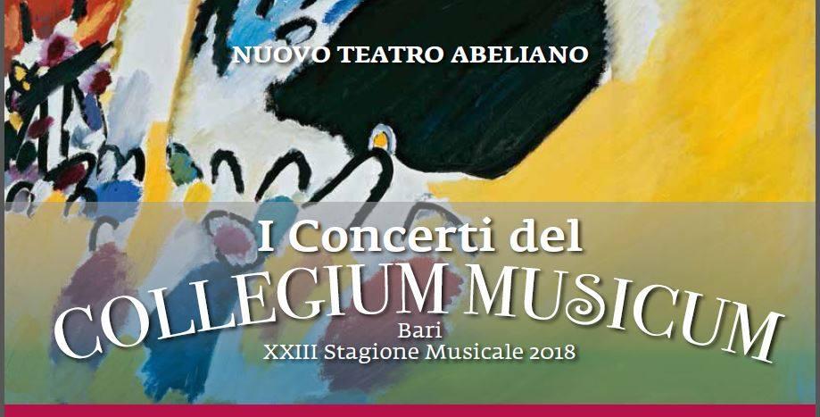 collegium musicum stagione musicale 2018