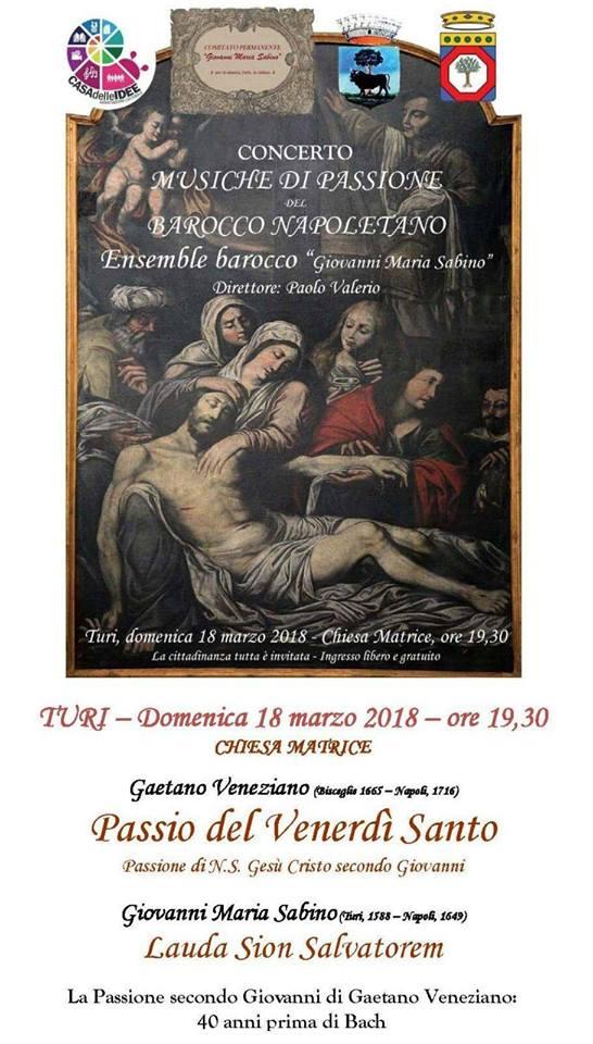 concerto musiche di passione del barocco napoletano turi