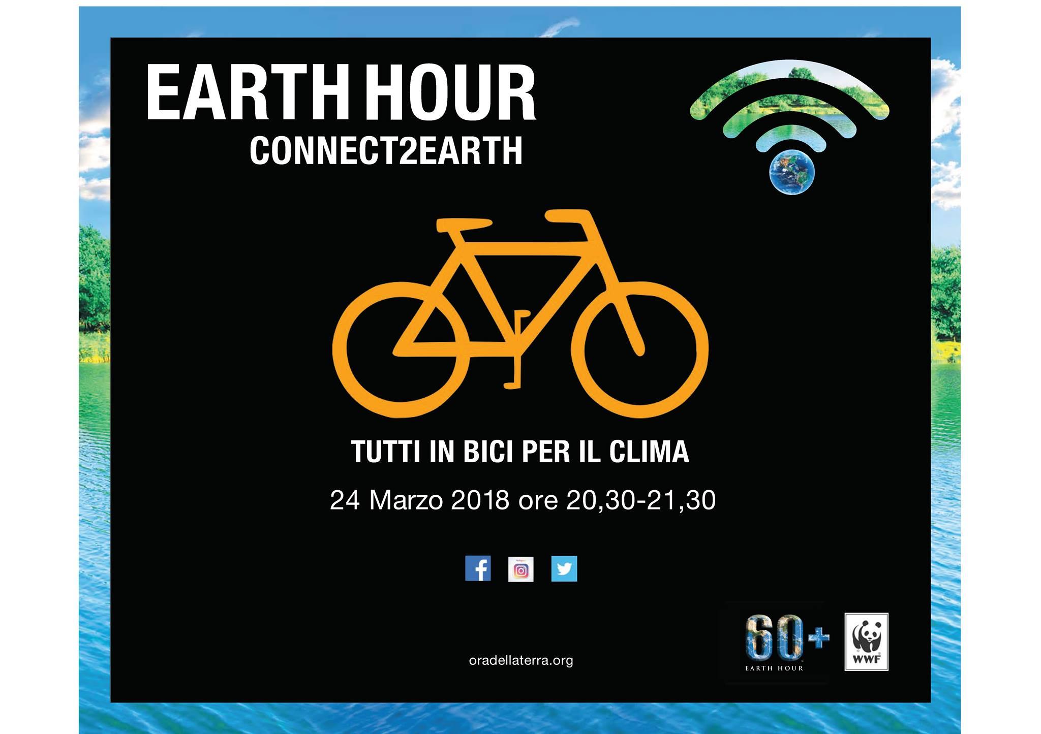 earth hour tutti in bici toritto 2018