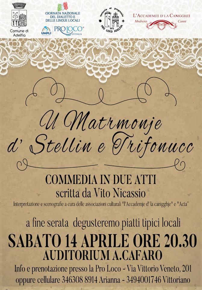 giornata nazionale del dialetto u matrmonje d stellin e trifonucc