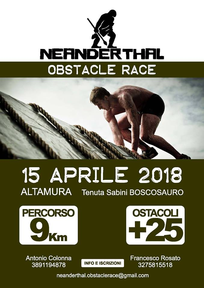 neanderthal obstacle race