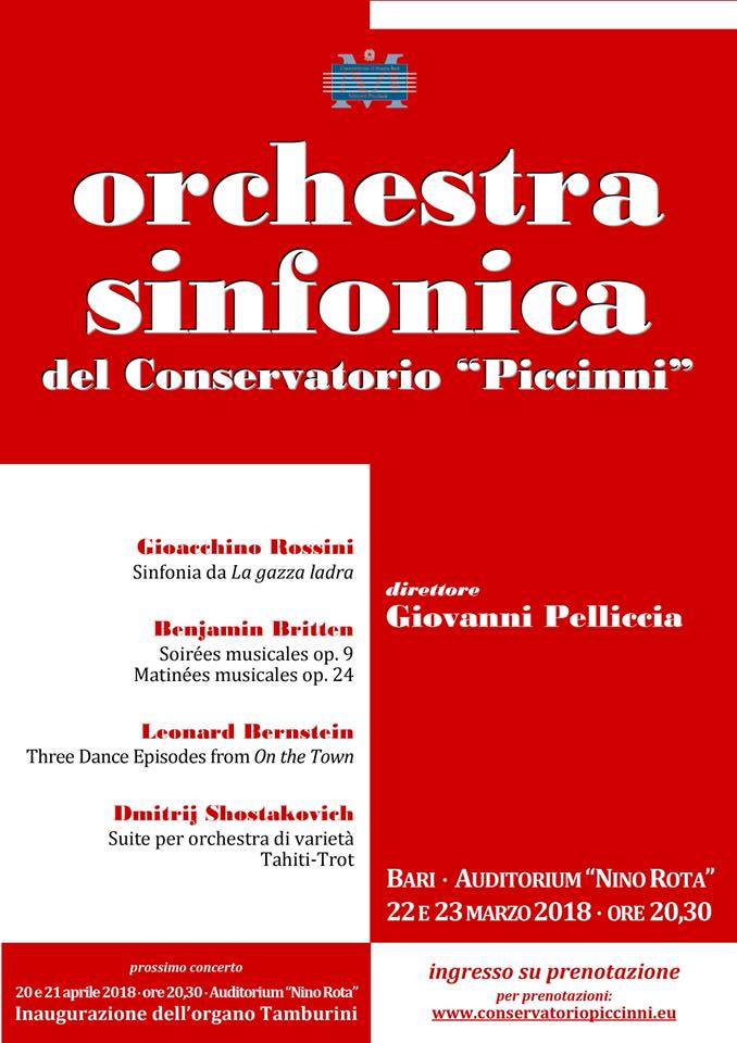 orchestra sinfonica conservatorio piccinni auditorium nino rota