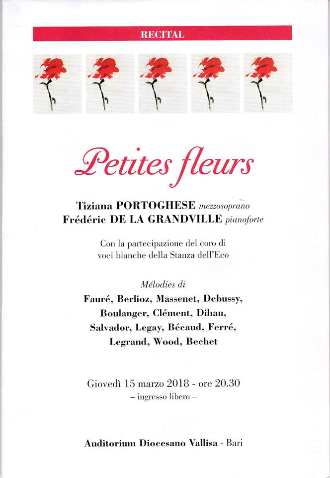 petites fleurs recital tiziana portoghese frederic de la grandville vallisa