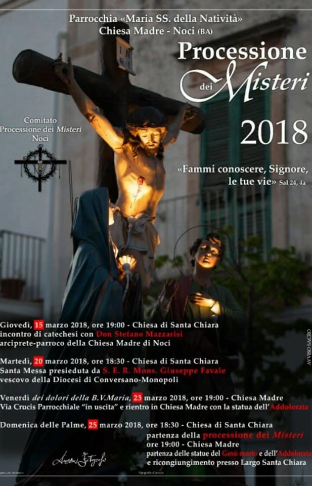 processione dei misteri noci 2018