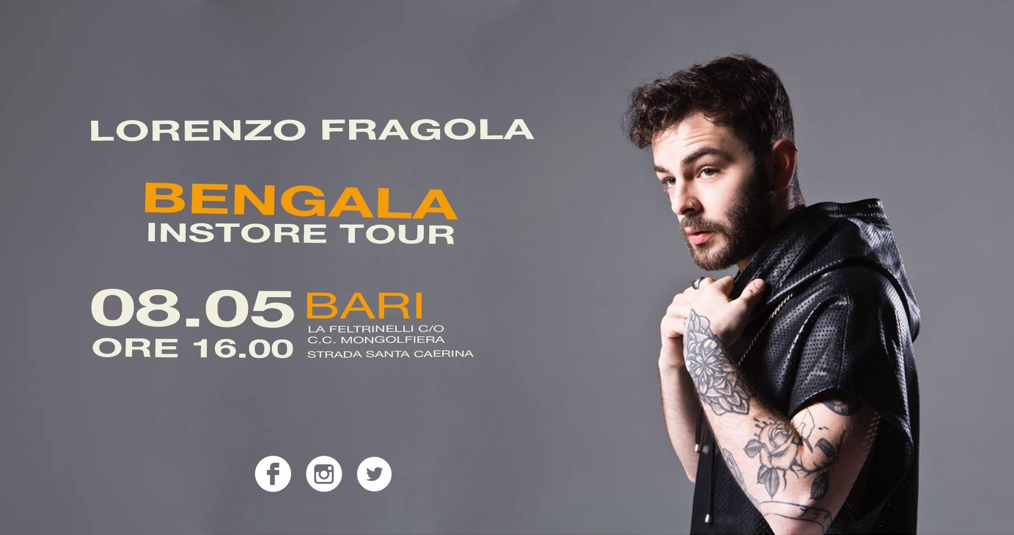 LORENZO FRAGOLA BENGALA INSTORE TOUR 2018 firmacopie