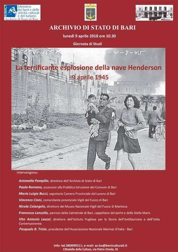 La terrificante esplosione della nave Henderson 9 aprile 1945