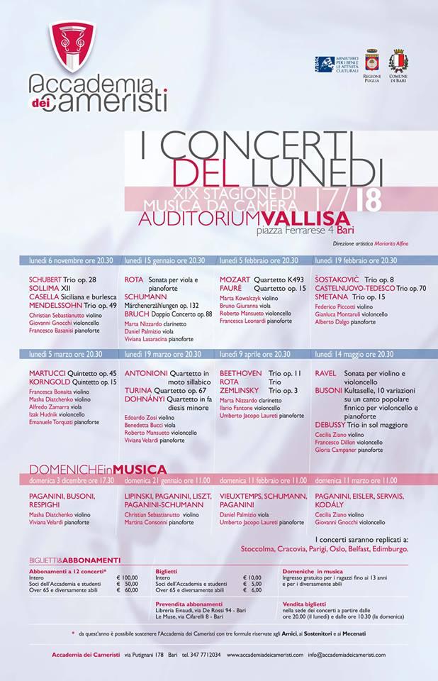 accademia dei cameristi concerti lunedì 2017 2018