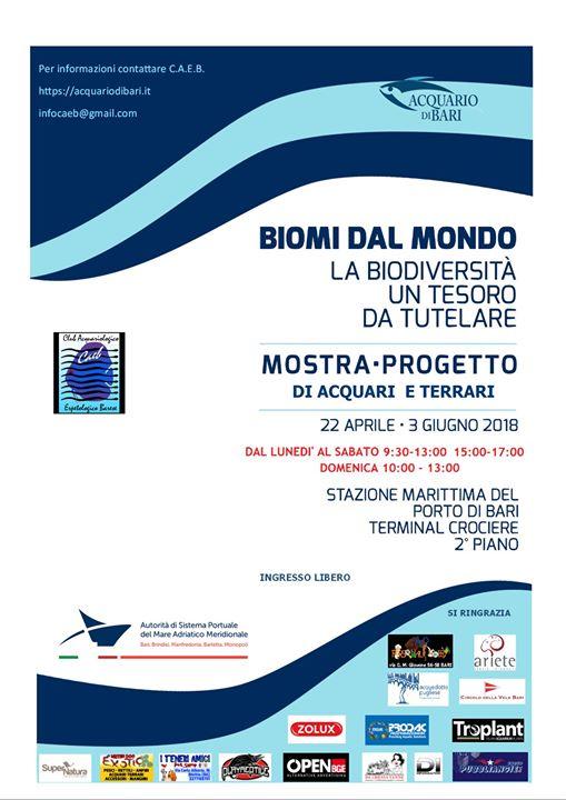 mostra progetto acquario di bari 2018