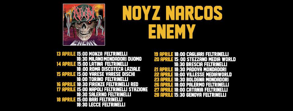 noyz narcos enemy instore tour firmacopie