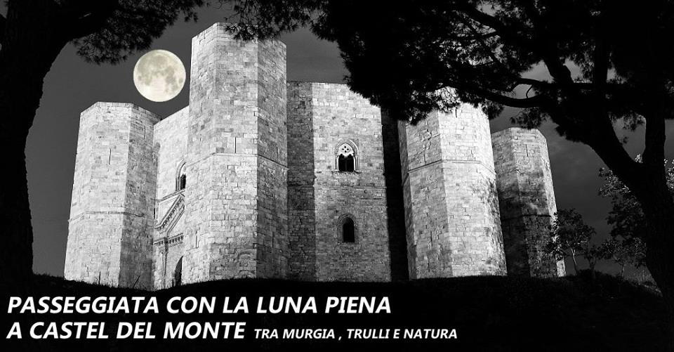 passeggiata con la luna piena a castel del monte