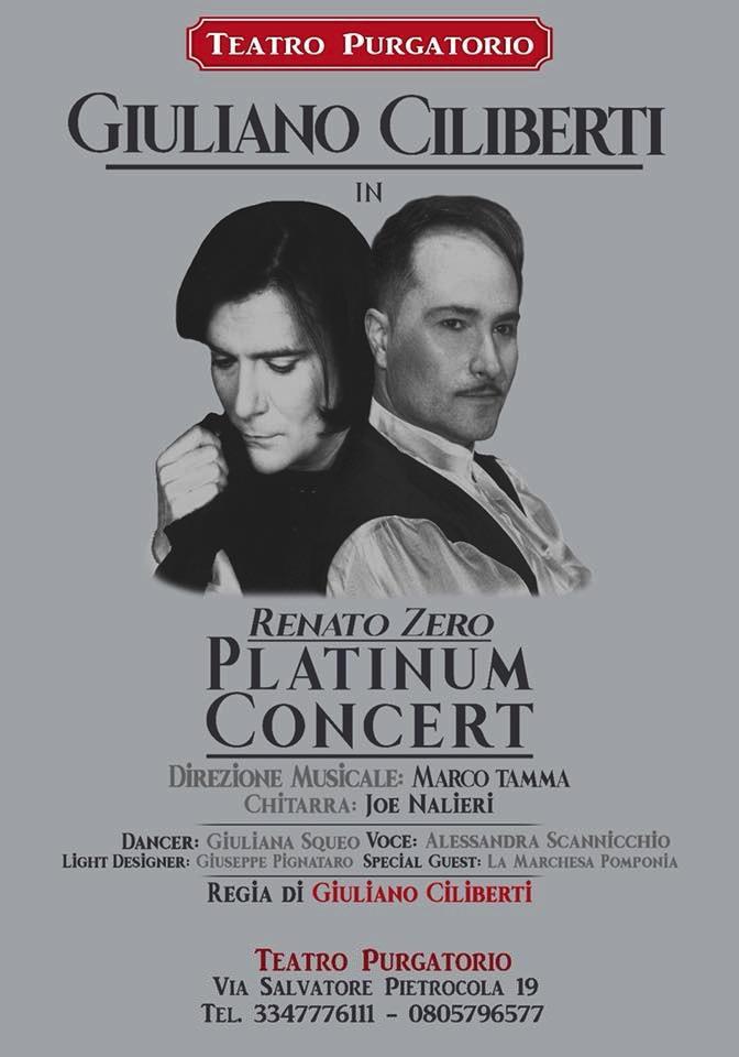 renato zero platinum concert giuliano ciliberti