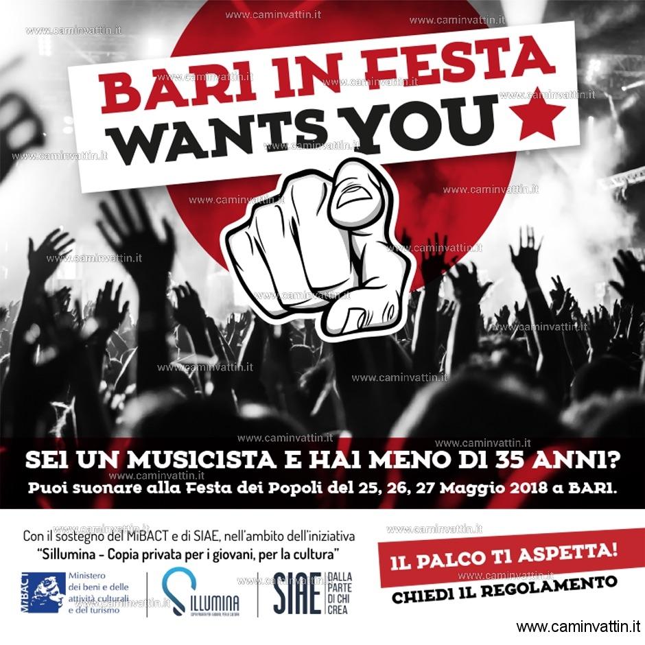 bari in festa wants you