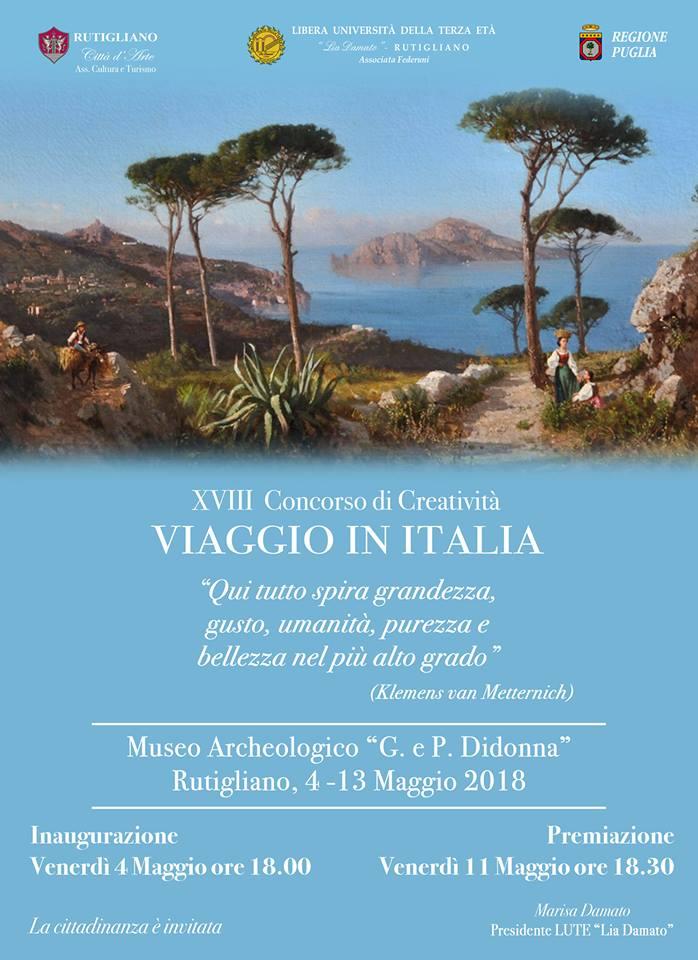 concorso di creativita viaggio in italia rutigliano