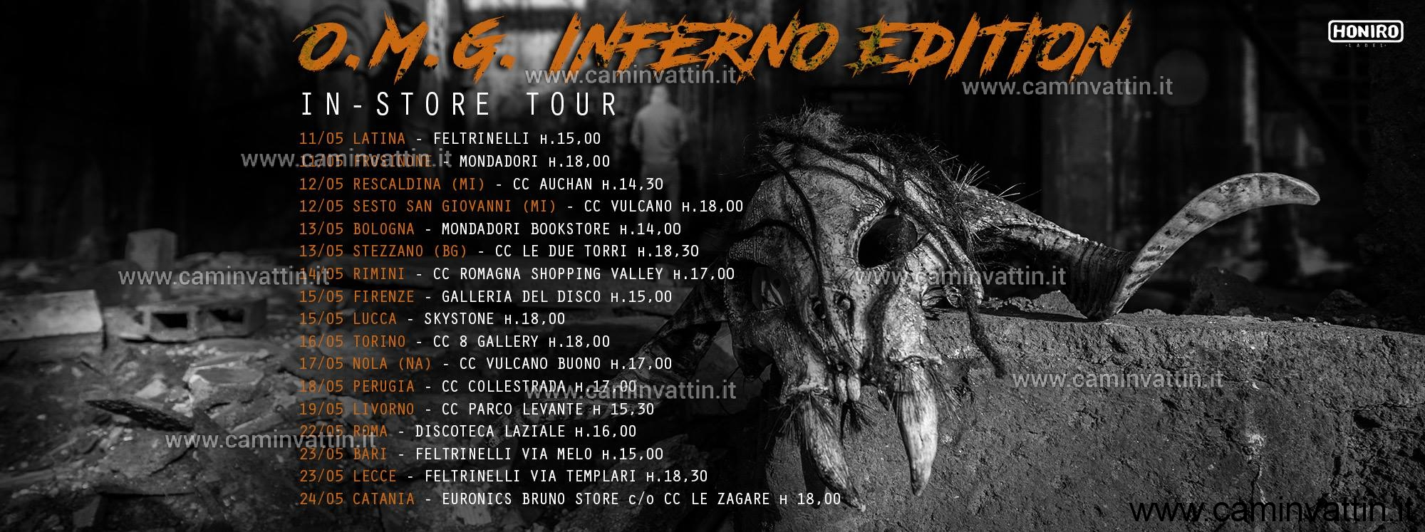 mostro omg inferno edition instore tour