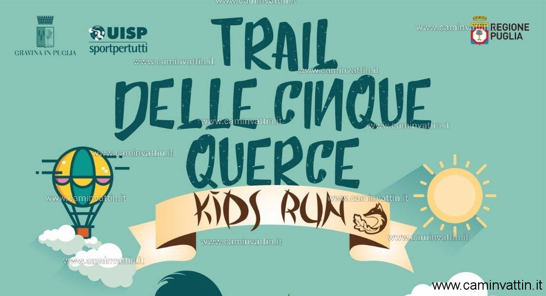 trail delle cinque querce kids run