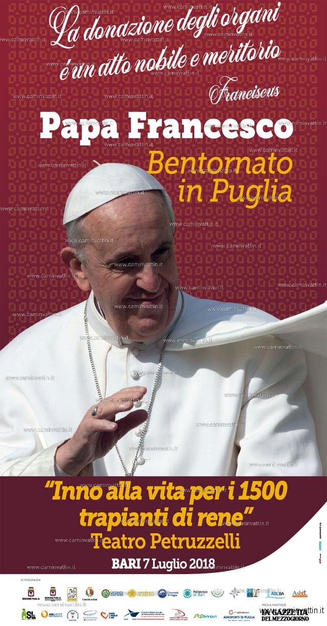 bentornato in puglia papa francesco