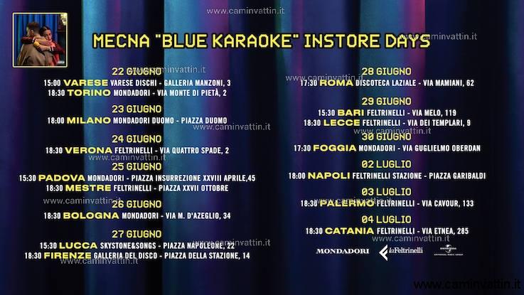 mecna blue karaoke instore tour