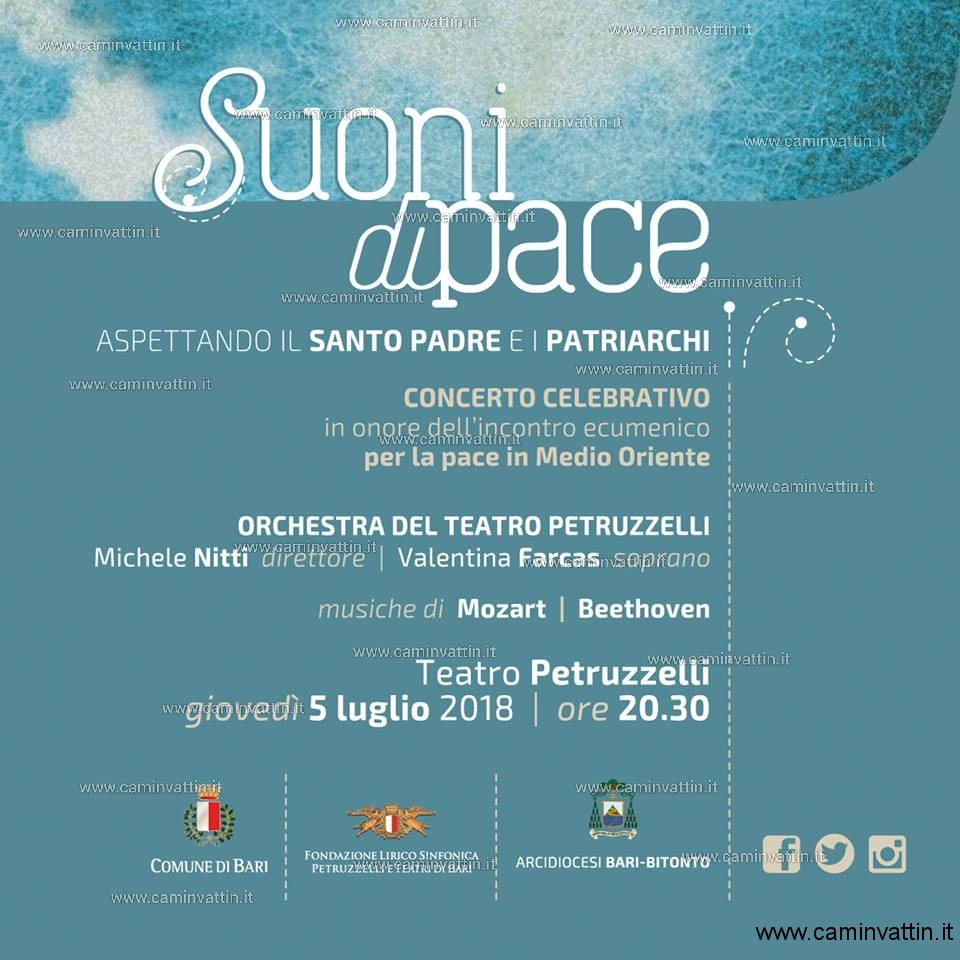 suoni di pace teatro petruzzelli