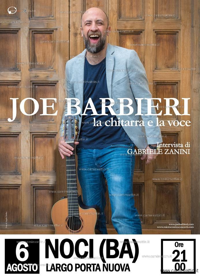 JOE BARBIERI in concerto gratuito a Noci