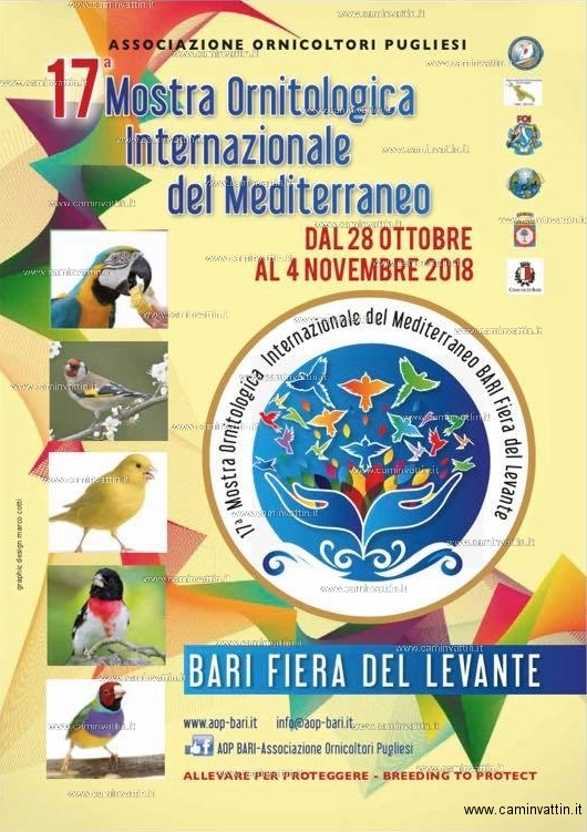 Calendario Fiera Del Levante.17ª Mostra Ornitologica Internazionale Del Mediterraneo Alla