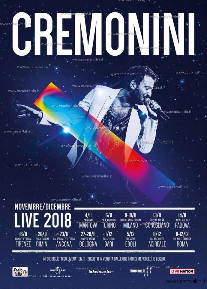 cesare cremonini tour 2018 palaflorio bari