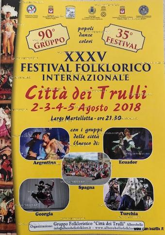 festival folklorico internazionale 2018 alberobello