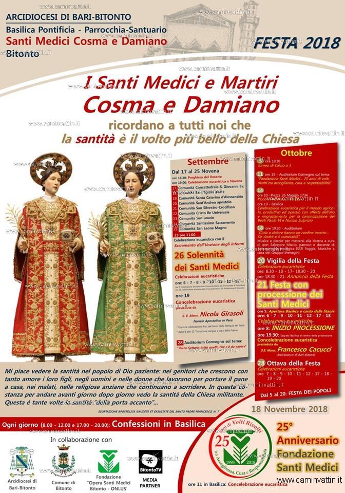 Festa dei Santi Medici Cosma e Damiano a Bitonto 2018