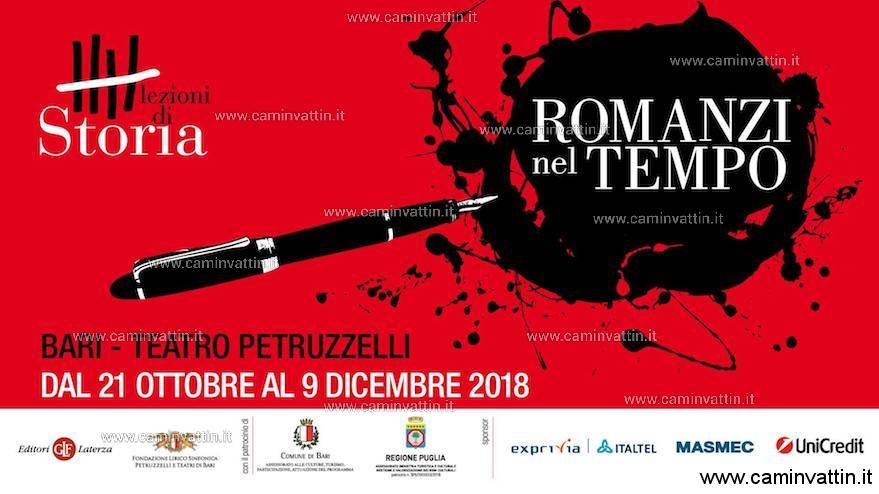 Lezioni Di Storia Romanzi Nel Tempo al teatro petruzzelli