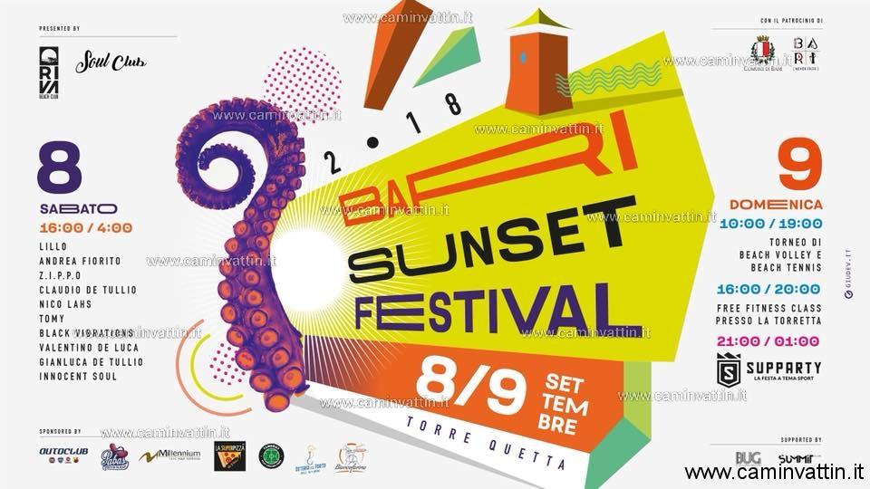 bari sunset festival 2018 torre quetta