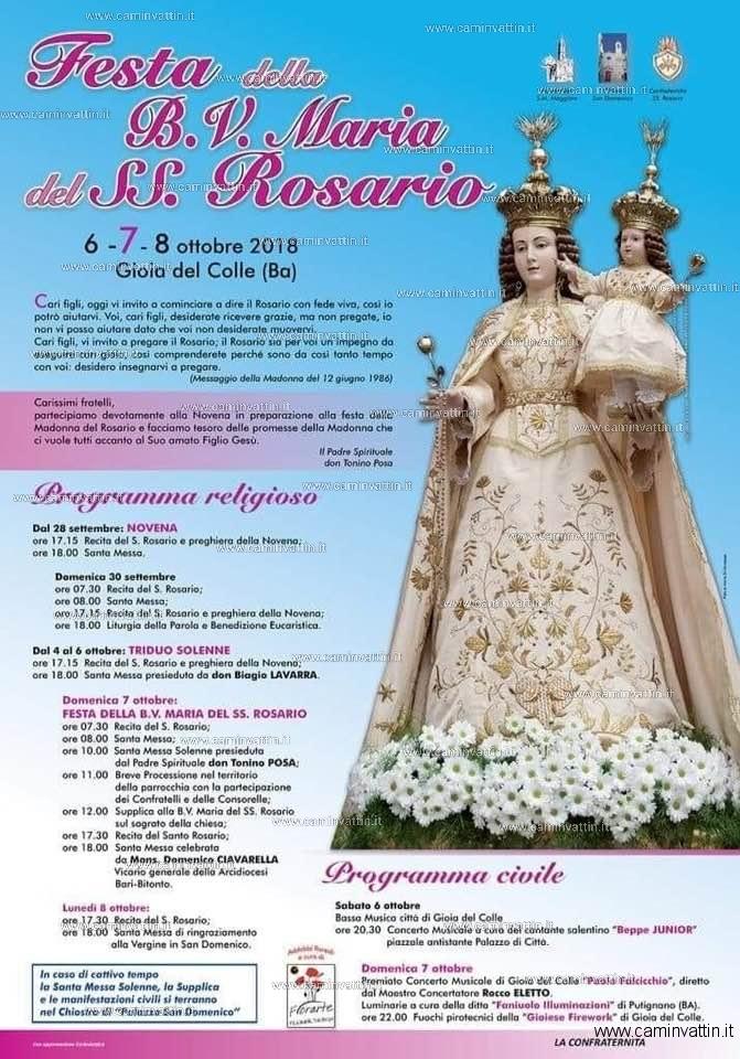 festa della b v maria del ss rosario gioia del colle
